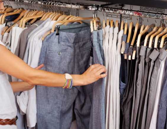 Browsing A Clothes Rack