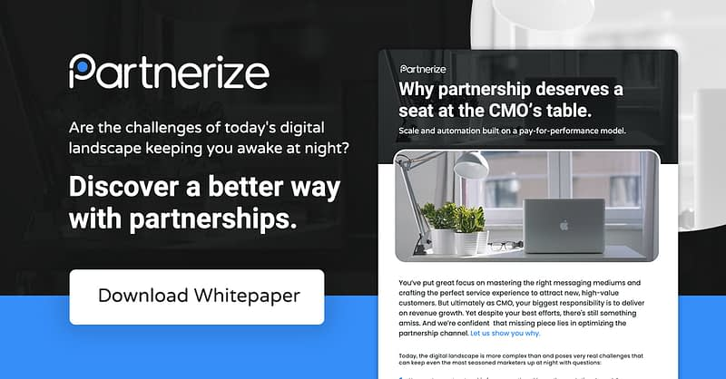 Why partnership deserves a seat at the CMO's table.