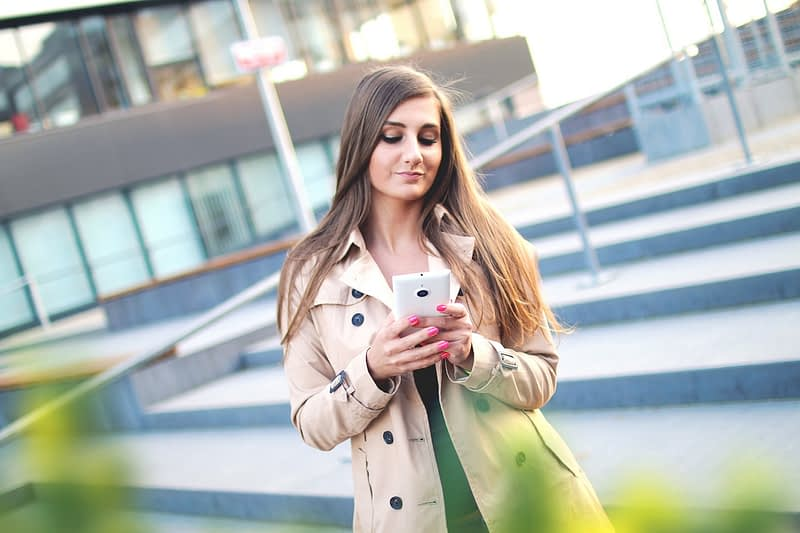 Woman Browsing Smartphone