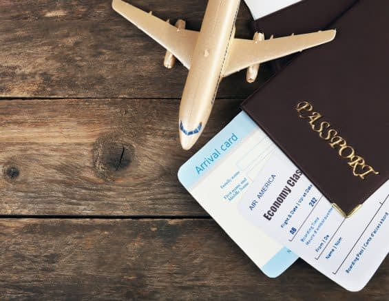 Passport and Plane Tickets