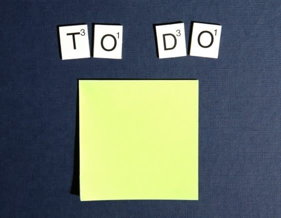 Postit Note To Do List